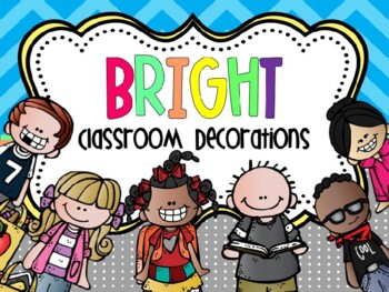 BRIGHT Classroom Decor- Editable MEGA Bundle with Melonheadz clip art!
