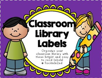 BRIGHT Classroom Library Labels