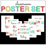 BRIGHT Classroom Poster Set - Positive and Colorful Messages