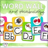 BRIGHT & EDITABLE Music Word Wall