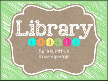 BRIGHT: Editable Green Library Labels