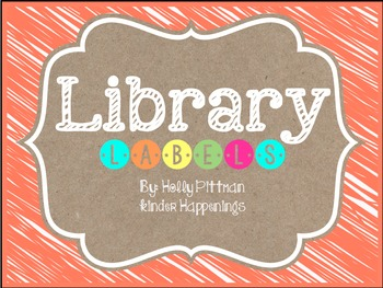 BRIGHT: Editable Orange Library Labels