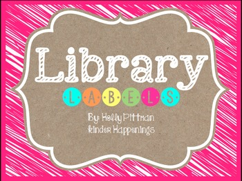BRIGHT: Editable Pink Library Labels