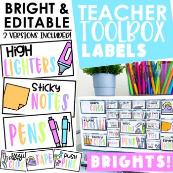 3rd grade teaching resources lesson plans teachers pay teachers teacher toolbox labels bright editable fandeluxe Choice Image