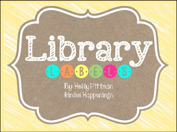 BRIGHT: Editable Yellow Library Labels