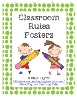 "BRIGHT, FUN Classroom Rules Posters Set - ""I Can"" Statements"