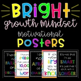 BRIGHT GROWTH MINDSET MOTIVATIONAL POSTERS