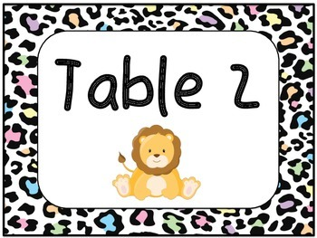 BRIGHT Jungle Table Numbers!