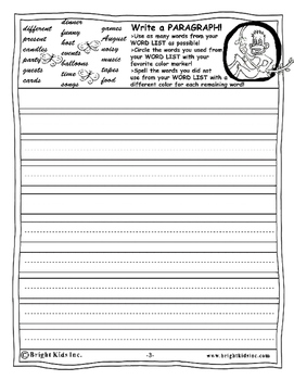 BRIGHT KIDS GRADE 4 ENGLISH WORD POWER WORKOUT! Save Time! Just Print and TEACH!