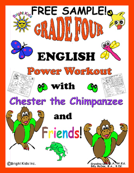 BRIGHT KIDS GRADE 4 ENGLISH WORD POWER WORKOUT! Save Time!