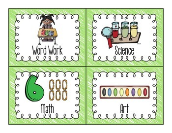 BRIGHT Literacy Work Station Cards
