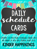 BRIGHT Editable Daily Schedule Cards