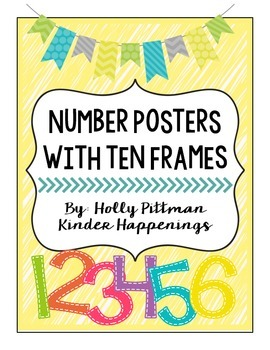 BRIGHT Number Posters with Ten Frames