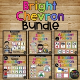 BRIGHT RAINBOW CHEVRON Classroom Decor GROWING BUNDLE