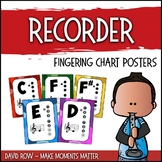 BRIGHT Recorder Fingering Charts in a Rainbow of Colors!