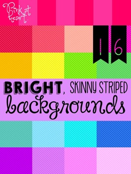BRIGHT, Skinny Striped Backgrounds