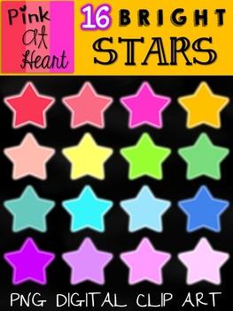 BRIGHT Stars Clip Art