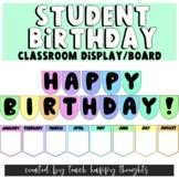BRIGHT Student DECOR   Happy Birthday Classroom Display /
