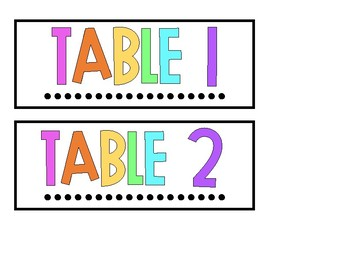 BRIGHT Table Caddy Labels (Spanish Version Included)
