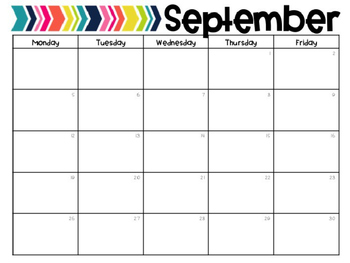 BRIGHTS 12-Month Editable Calendar