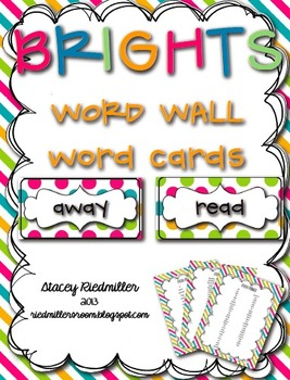 BRIGHTS {Dolch Sight} Word Wall Cards