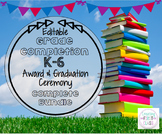 BRIGHTS Graduation/Award Ceremony EDITABLE Invitations, Program, & Awards