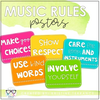 BRIGHTS Music Rule Posters