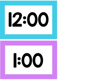 BRIGHTS Schedule Cards *Editable*