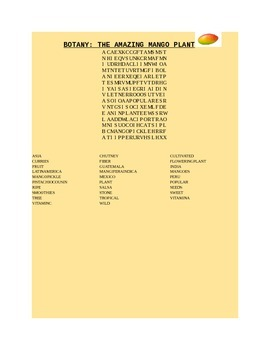 BRING MANGOES TO SCHOOL DAY AND DO A MANGO WORD SEARCH!