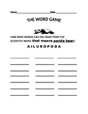 BRING YOUR TEDDY BEAR TO SCHOOL DAY AND SOLVE THE WORD GAME!