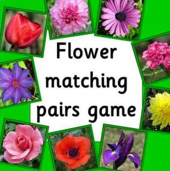 BRITISH FLOWERS matching pairs game