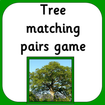 BRITISH TREES matching pairs game
