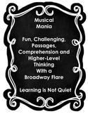 BROADWAY MUSICAL MANIA READING TEST PREP (Fun analyzing 30