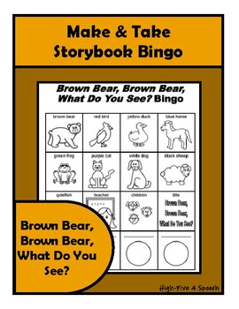 BROWN BEAR BINGO Make & Take, SPEECH THERAPY