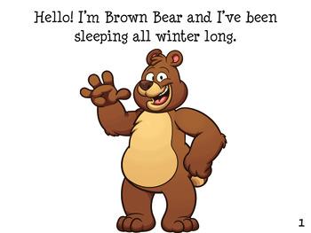 BROWN BEAR SPRING  Early Reader Pre-K
