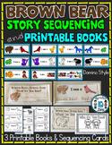 BROWN BEAR STORY SEQUENCING CARDS AND PRINTABLE BOOKS