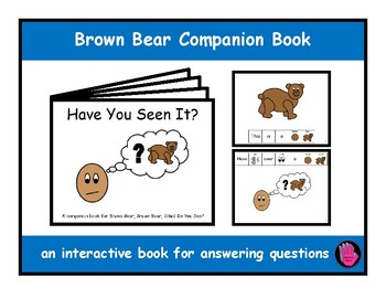 BROWN BEAR, WHAT DO YOU SEE? Interactive Companion Book, Speech Therapy