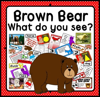 BROWN BEAR WHAT DO YOU SEE STORY TEACHING RESOURCES EYFS COLOURS ANIMALS