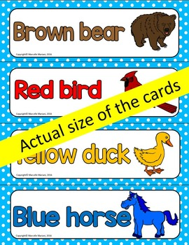 BROWN BEAR  ART ACTIVITY AND WORD WALL CARDS