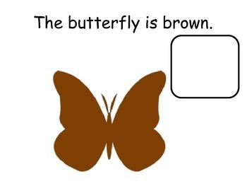 BROWN Interactive Color Sight Word Reader; Kindergarten; Autism;