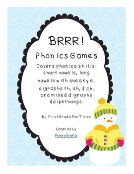 BRRR! Winter Theme Phonics Skills Games