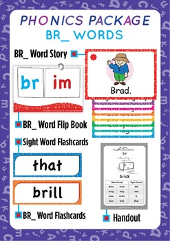 'BR_ WORDS' Phonics Lesson Package