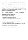 BS-Part1 - Short & Long Term Objectives Activity Sheet
