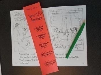 BTBW Syllable Division Bookmarks-Set 1 VC/CV Pattern (All Types) Portrait