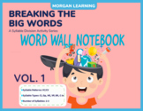 BTBW Word Wall Notebook - Set 1 VC/CV Syllables (All Types)