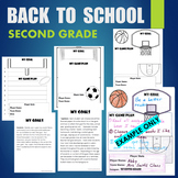 BTS - Back To School 2nd (Second) Grade Sports Goals - Higher Order Thinking