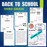 BTS - Back To School 3rd (Third) Grade Sports Goals - Higher Order Thinking
