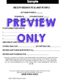 BTS/Beginning of the Year Classroom Forms!