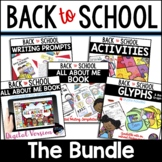 Back to School Activities, All About Me Book, Glyphs & Wri