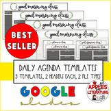 BTS Daily Agenda Farm Rae Dunn Style, 3 Templates Powerpoint Google Slides